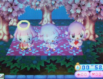 桜のレジャーシートデザイン型紙