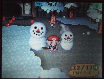 雪だるまふたり